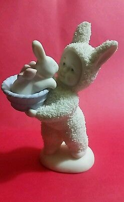 "DEPT 56 SNOWBUNNIES ""A BASKET OF LOVE"" 4.25"" Figurine"