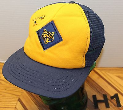 Vintage Cub Scouts Wolf Hat Snapback Adjustable Union Made In The Usa Vgc
