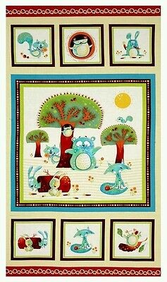 Woodsy Wonders Quilt Panel * New * In Stock * Free Post *