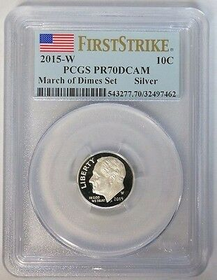 2015 W 10C March of Dimes Silver Proof Dime PCGS PR70DCAM First Strike
