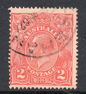 AUSTRALIA = GV 2d `Head`. SG63 / 63a. Used. Unchecked for Shades, etc. (ac)