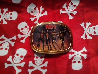 Vintage Kiss Destroyer Pacifica Mfg. Belt Buckle-(1977)