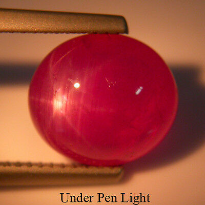 NICE 7.30Cts Natural Pink Star Ruby Cabochon Oval Shape Loose Gemstone