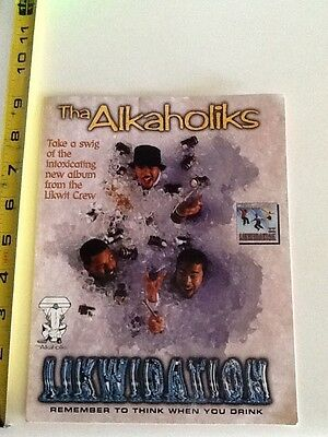 tha alkaholiks likwidation promo sticker loud records