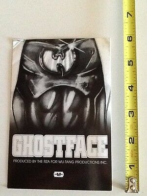 ghostface killah promo sticker wu tang clan ironman