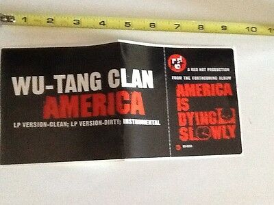 wu tang clan america promo sticker RZA Gza ghostface Raekwon method man ol dirty