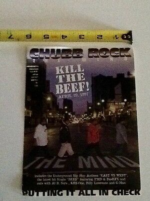 chubb rock the mind kill the beef promo sticker hip hop relativity