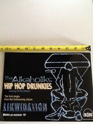 alkaholiks hip hop drunkies ol dirty bastard promo sticker wu tang clan