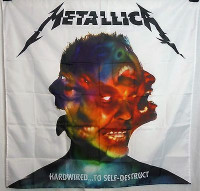 METALLICA Hardwired to Self Destruct HUGE 4X4 banner poster tapestry cd album