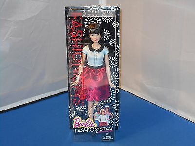 2015 Mattel Barbie Fashionistas Ruby Red Floral Doll New Mint In Sealed Box!