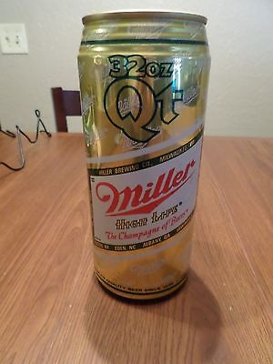 Miller High Life Champagne of Beers 32 oz Quart Stay Tab Beer Can