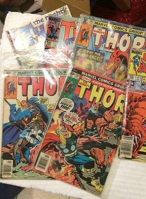 Lot Of 5 The Mighty Thor Comic Books !!!  Ok Condition !!   Used !!    As Is !!!