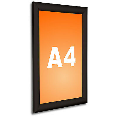 A4 Wall Mounted Black Snap Frame Poster Frame