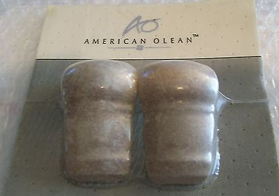 AMERICAN OLEAN PAIR of Wheat 2X2 COUNTER RAIL CORNERS  BRAND NEW OLD STOCK! LOOK