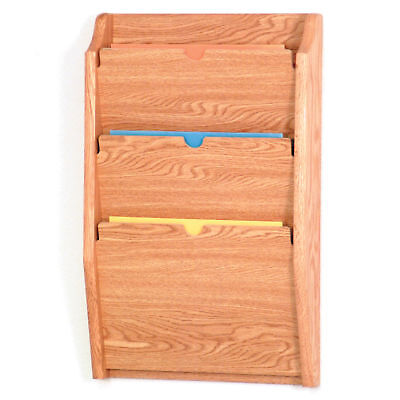 Wooden Wall Mount Cascade Privacy File Organizer Rack Letter Size Chart Holder