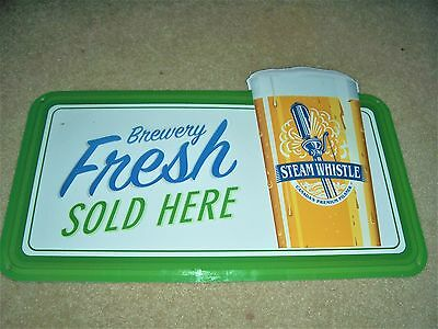Steam Whistle Brewery Fresh Beer Sold Here  Metal Tin Tacker Beer Sign New