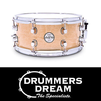"MAPEX MPX 13"" x 6"" Birch Snare Drum Gloss Natural Finish - BRAND NEW"