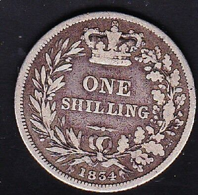 1834 Great Britain One Shilling Coin Vf