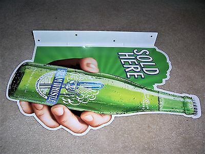 Steam Whistle Brewery Good Beer Sold Here Metal Tin Tacker Flanged Sign  New
