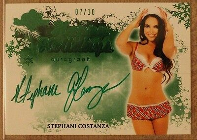 2014 Benchwarmer Happy Holidays Autograph Card - Stephani Costanza 7/10