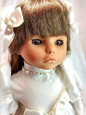 "Lissi Fashions 1990 LE Re-Issue Bride Bridal 18"" Vinyl Sleeper Eyes Doll Wedding"
