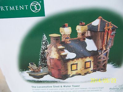 Department 56 Dickens Village The Locomotive Shed & Water Tower NIB