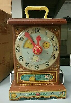 Vintage 1964 Fisher Price Tick Tock Clock 997 works