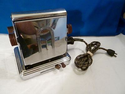 Vintage Electrahot Style 619 Electric Toaster 2 Slice Deco Retro w Cord *WORKS*