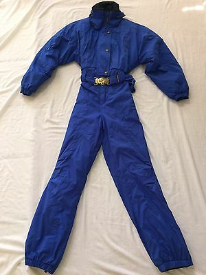 Euc  Nordica Classics Women's Insulated One Piece Ski Snow Suit Sz 6 Blue