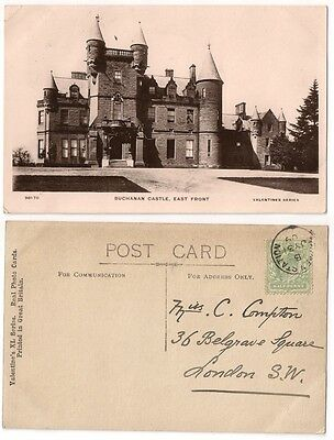BUCHANAN CASTLE, EAST FRONT pu1909 RP by Valentines