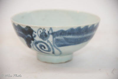 19th Century Qing Dynasty Blue and White Porcelain Bowl