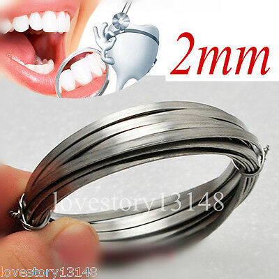 1x  Round NEW Dental Flat Stainless 2mm Diameter Steel Wire Surgical Instruments