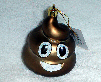 Poop Poo Emoji Funny Novelty Christmas Ornament New W Tag