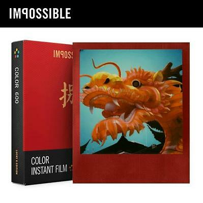 Impossible Project Polaroid 600 660 Color Instant Film LUCKY 8 RED FRAME Edition