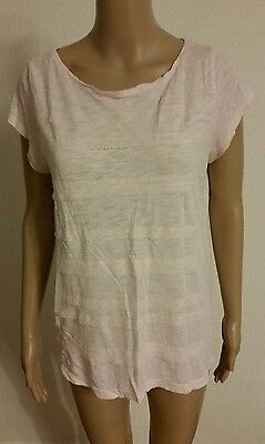 LOFT Ann Taylor Women's Shirt Blouse Short Sleeve, M Size, Light Pink Color