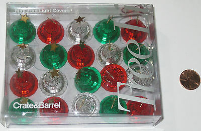 Crate And Barrel Mini Tree Light Covers - Set Of 20 - Christmas Tree - Nos