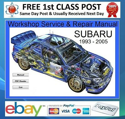 Subaru Impreza WRX/STi 1996 - 2005 Workshop Repair Manual On CD