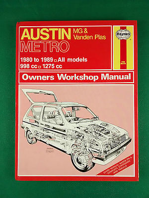 Austin Metro Inc. MG 1980 To 1986 998cc To 1275cc Haynes Owners Workshop Manual