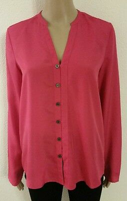 Wonder Women Female Long Sleeve Shirt Blouse Size M, color Pink, Polyester