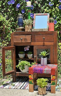 Recycled Reclaimed Timber Country Storage Cabinet Sideboard Vanity Rustic Retro