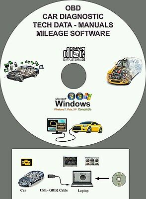 OBD Car Diagnostic Software Package ECU REMAPPING Chip Tunning Check Engine DVD