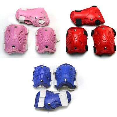 Kids Scooter Skate Protection Elbow/Knee Pads / Wrist-Brace Guards 6Pcs/Set