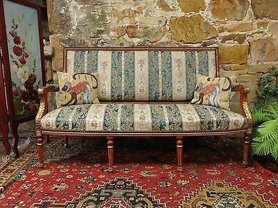 Antique Baroque Louis Style Lounge Chair~Sofa~French Chic~Hollywood