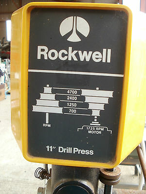 "Rockwell 11""Pillar Drill Press and Bench"