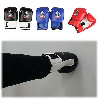 Fitness Mad Synthetic Leather Boxing Gloves Fight Punch Bag MMA Muay thai Gloves