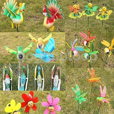 1pc Dancing Resin Animals on Stick Lawn Stake Decor Baby Kids Fun Toys Random