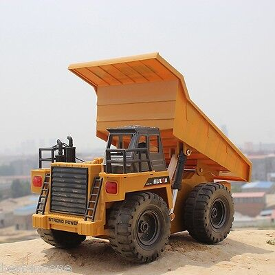 HUINA 1540 1:12 2.4G 6CH RC Car Alloy Dump Truck Auto Demonstration Function Toy