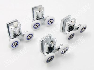 4x Shower Glass Door Rollers/Runners/Wheels/Pulleys Replacement 23mm Twin Wheel
