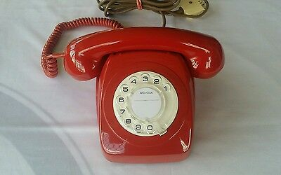 Antique Retro Vintage Rotary Dial Red Telephone  Awa 802 ***pristine ***