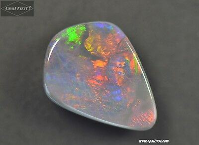 2.8 ct solid black opal from Lightning Ridge , Australia (VIDEO) by Opal First !